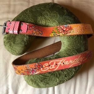 Authentic Ed Hardy leather belt